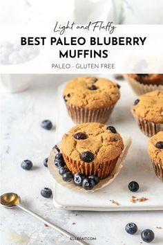 Paleo Blueberry Muffins, Blueberry Recipes, Blue Berry Muffins, Egg Free Recipes, Allergy Free Recipes, Delicious Cookie Recipes, Snack Recipes, Muffin Recipes, Cassava Flour Recipes
