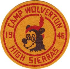 Camp Wolverton patch. Round Logo Design, Outdoor Logos, Vintage Patches, Pin And Patches, Graphic Design Typography, Vintage Designs, Screen Printing, Design Art, Camping