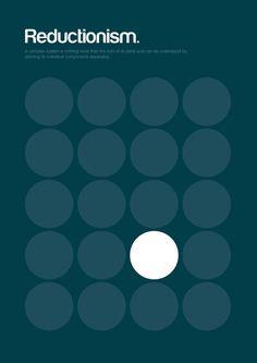 미니멀리스트 포스터, 철학적 교리를 보여주다.