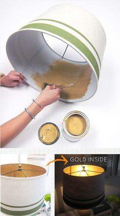 Ajoutez de l'or à un ancien abat-jour