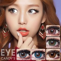 Sweeten Up Your Look with colored contact lenses from www.eyecandys.com!  #circlelens #circlelenses #colorcontacts #contactlens #beautylens #colorcon #ulzzang #makeup #beauty #eyecandys