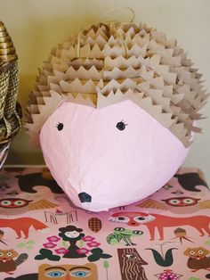 Hedgehog Pinata : Woodland Forest Birthday Party