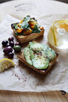 Avo & Cherry Tomato Toast (For health benefits, use sourdough bread.)