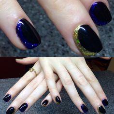 CND Shellac mani, a mix of additives and black pool