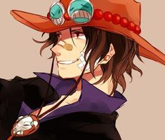 Anime picture with one piece toei animation portgas d ace single short hair red eyes brown hair smile simple background looking away brown freckles male hat plaster One Piece Manga, Ace One Piece, One Piece Fanart, One Piece Luffy, Zoro, Brown Hair And Freckles, Portgas Ace, Film Manga, Manga Anime