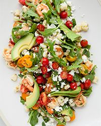 Shrimp Salad with Hominy, Arugula and Lime  Recipe on Food & Wine