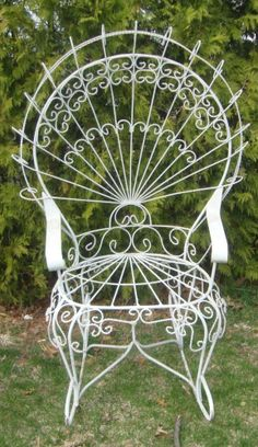 Victorian Twisted Wire Pea Empress Garden Chair Furniture Gazebo Old Vintage