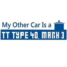 My Othe Car Is A Tardis Doctor Who vinyl bumper sticker decal BDW