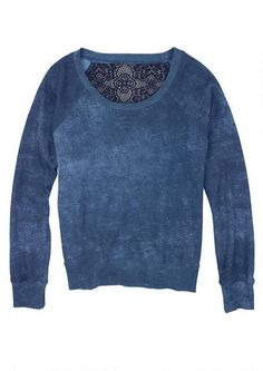 Crochet Back Pullover - Sweatshirts - Tops - dELiA*s