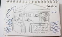 Craft Fair Booth Ideas | This was the first drawing I had done to decide where to put all the ...