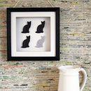 Framed 3D Black Cat Artwork