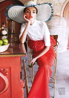Love the hat.....vintage chic