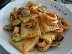 Paccheri vongole calamari e zucchine-Così cucino io