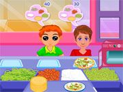 Free Online Girl Games, You have just opened a pizza store and the customers are begging to come in!  In Pizza Treat, you'll have to serve the customers as fast as you can so you can earn enough money to stay open!  Luckily everyone has the same order, so try making the pizza before the customer orders!, #pizza #cooking #restaurant #time management