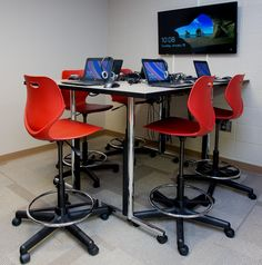Students today require learning spaces that support technology and collaboration. KI's Intellect Wave stools and Portico table support both! Classroom Furniture, School Furniture, Classroom Training, Faculty And Staff, Learning Spaces, New Journey, Noah Webster, Waves, Library Ideas