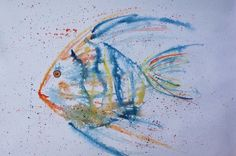 Buy Speedy Fish  29.5cm x 21cm, Watercolor by Anna Pawlyszyn on Artfinder. Discover thousands of other original paintings, prints, sculptures and photography from independent artists.