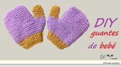 Cómo tejer guantes de bebé