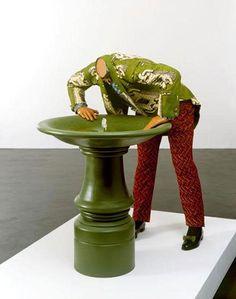 Yinka Shonibare - Headless Man Trying to Drink 2005