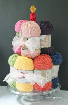 My kind of birthday pressie! Would LOVE this!! Yarn cake!