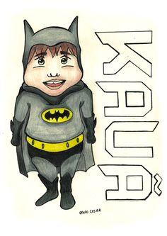 Aniversário do meu sobrinho, o tema da festa era do Batman, Criei este personagem para fazer o trabalho gráfico.