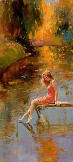 """Warm reflections"" by Irene Sheri"