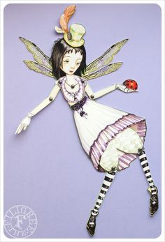 Articulated Fairy Paper Doll handmade by the Filigree