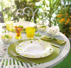 #Tendencias de #decoracion de mesas en otoño: Vajilla Amely #Luminarc