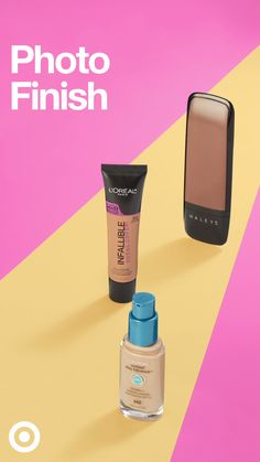 Get a photo finish look from any angle with our full coverage foundations. – Diy Home Motion Photography, Creative Photography, Cosmetic Design, No Foundation Makeup, Full Coverage Foundation, Ads Creative, Ad Design, Pink Design, Photo Tips