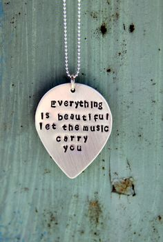 $42 Tear Drop Necklace, Music Necklace, Beautiful Quote, Quoted Gift For Boyfriend Girlfriend, Raindrop,Beautiful Lyrics, Tear,