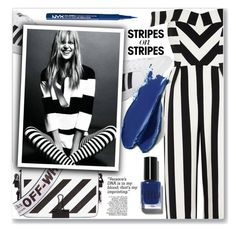 """""""Stripes"""" by peta-5 ❤ liked on Polyvore featuring River Island, adidas, Off-White, NYX, Bobbi Brown Cosmetics, Balmain, stripesonstripes and PatternChallenge"""