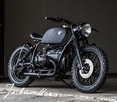"The force is strong in this BMW R100 by Ironwood Customs named ""Deathstar"".  Darth Vader would be proud."