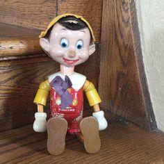 1930s Pinocchio Doll  Wooden Pinocchio  Walt by MyVintagePoint