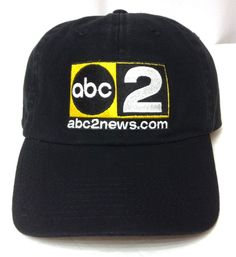 ABC TV CHANNEL 2 HAT Relaxed-Fit Cotton Black/Yellow Television News Men/Women #Fahrenheit #BaseballCap