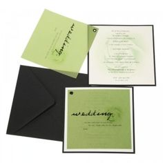 Black White And Green Wedding Invitations - The Wedding SpecialistsThe Wedding Specialists