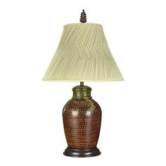 Springcrest™ Tan and Brown Bell Lamp Shade 7x14x11 (Spider) | New ...
