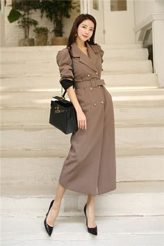 Korean Street Fashion Urban Chic, Korean Fashion Dress, Fashion Dresses, Office Outfits Women, Stylish Work Outfits, Classy Outfits, Elegant Outfit, Classy Dress, Girly