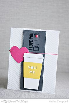 Fine Chevron Background, Perk Up, Coffee Cup Die-namics, Vertical Stitched Strips Die-namics - Keisha Campbell #mftstamps
