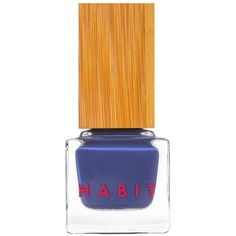Habit Cosmetics 08 Blue Velvet Denim Blue By ($18) ❤ liked on Polyvore featuring beauty products, nail care, nail polish, makeup, beauty, nails and cosmetics