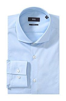 Slim-fit business shirt 'Philip', easy-iron, Open Blue