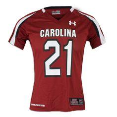 WANT! South Carolina Gamecock Garnet Under Armour #21 Ladies Football Jersey