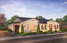 Citron at The Grove in Camarillo, CA by Shea Homes | Residence 2B Exterior Rendering   #sheahomes #sheahomessocal #livethedifference #liveethesheadifference #CitronAtTheGrove #Camarillo #newhomes #venturanewhomes #venturacounty #realestate Sales: Shea Homes Marketing Company (CalDRE #01378646), Construction: SHSC GC, Inc. (CSLB #1012096). Equal Housing Opportunity.