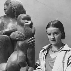 Born in Wakefield as Jocelyn Barbara Hepworth. At art school met and became a friendly rival of Henry Moore, though it was she who first 'pierced' her sculptures. With her first husband had a son who died in a flying accident in 1953. Married and had triplets with Ben Nicholson. The children were sent to boarding schools and were not allowed to disturb her in the studio. Other work in London - 'Winged Figure' (1963) on the side of John Lewis in Oxford Street (where she ensured a lamppos...