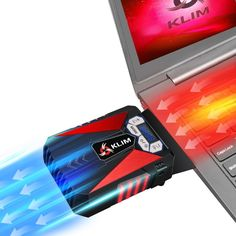 KLIM Cool Universaler Kühler für Spielekonsole Laptop PC – Hochleistungslüfter für schnelle Kühlung - USB Warmluft-Abzug (Rot)  EUR 24,90
