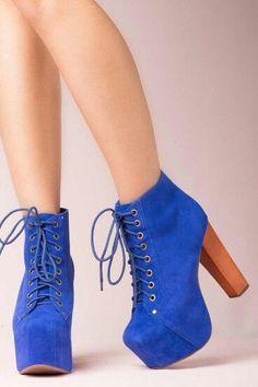 Cobalt blue JC Lita boots