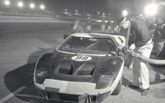 The race winning Ford GT40 driven by Ken Miles and Lloyd Ruby in the Daytona 24 Hour Race, 1966.    #Ford#Ford GT40#Ken Miles#Lloyd Ruby#Daytona 24 Hours#24 Hours of Daytona#Daytona#Daytona 24 Hour Race#1966#Ford Mk. II
