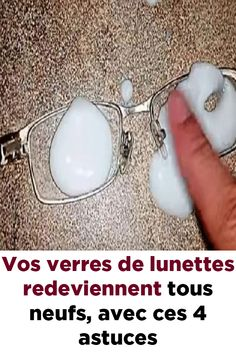 Vos verres de lunettes redeviennent tous neufs, avec ces 4 astuces ! Cleaners Homemade, Green Life, Cleaning Hacks, Gemstone Rings, Glass, Diy, Jewelry, France, Foods