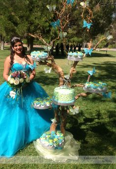 A lovely Quinceanera and her cake!