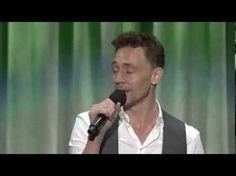 """Tom Hiddleston singing 'The Bare Necessities"""" at D23. OH MY GOD WATCH THIS NOW!!!!!!!!!!!"""