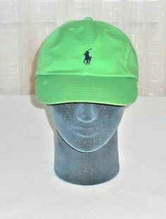 a4273971027 Polo Ralph Lauren Distressed Green Vented Polo Pony Hat Adjustable Leather  Strap  PoloRalphLauren  BaseballCap