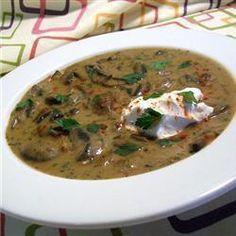 Hungarian mushroom soup @ allrecipes.co.uk